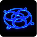 Bitspower 120mm Fan Grill Biohazard - UV Blue