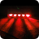 Lamptron 5 Spread Lazer LED - Red